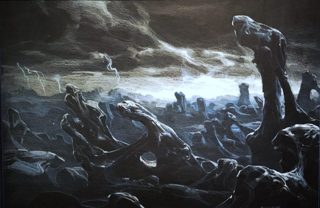 Pintura de la colección personal de Guillermo del Toro, de la exposición En casa con mis monstruos.